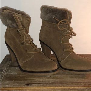 Johnson & Murphy Lace-up Booties with Fur